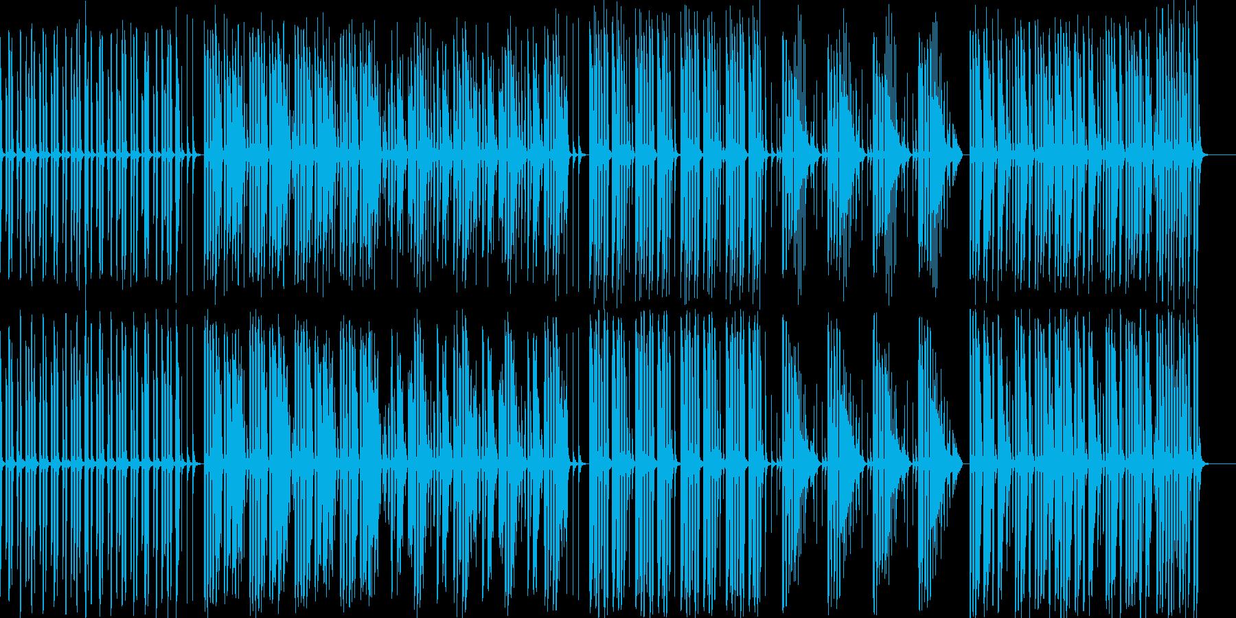 拍子抜けしたコミカルな曲の再生済みの波形