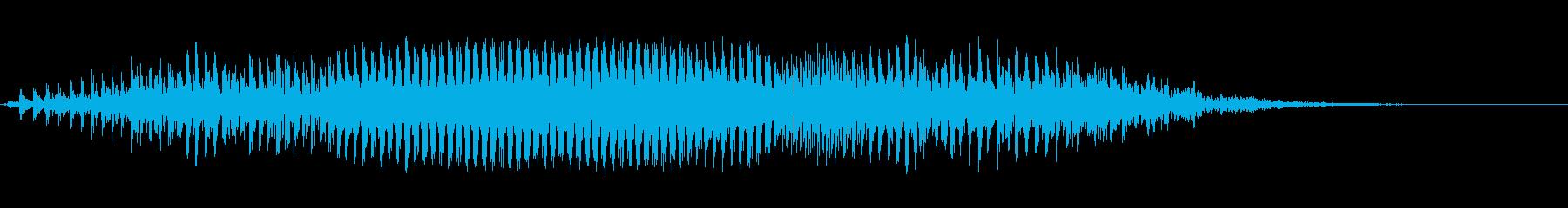 モォ〜♪牛の鳴き声の効果音 07の再生済みの波形