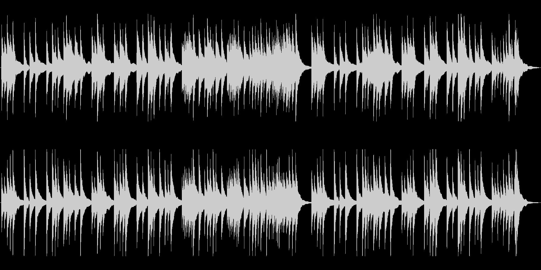 上品で落ち着いた純和風、琴のBGMの未再生の波形