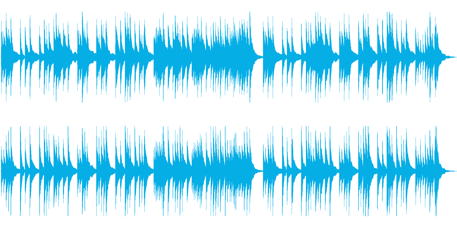 上品で落ち着いた純和風、琴のBGMの再生済みの波形