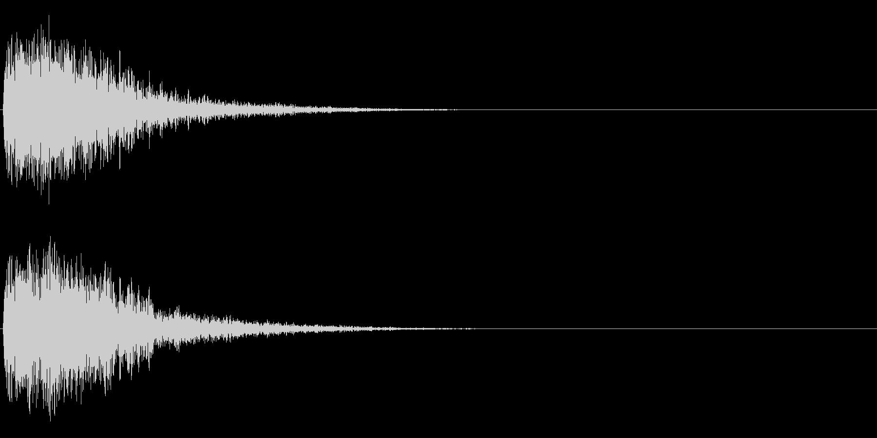 注意を引くインパクトのある音#2の未再生の波形
