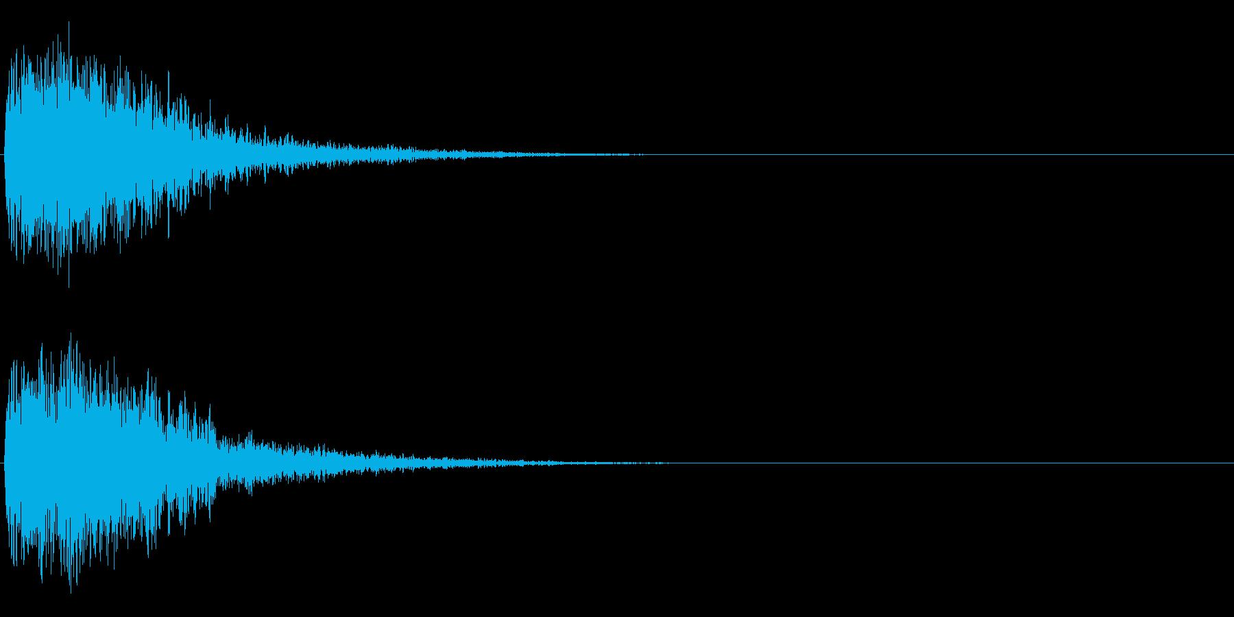 注意を引くインパクトのある音#2の再生済みの波形