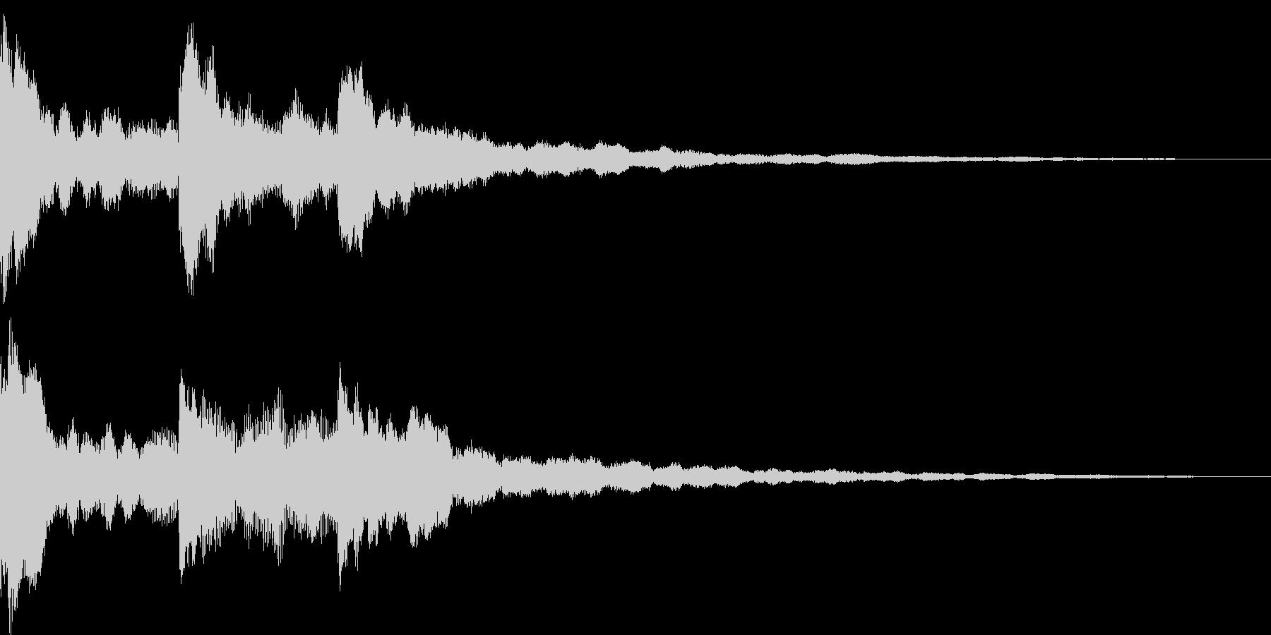 アンビエントなサウンドロゴの未再生の波形