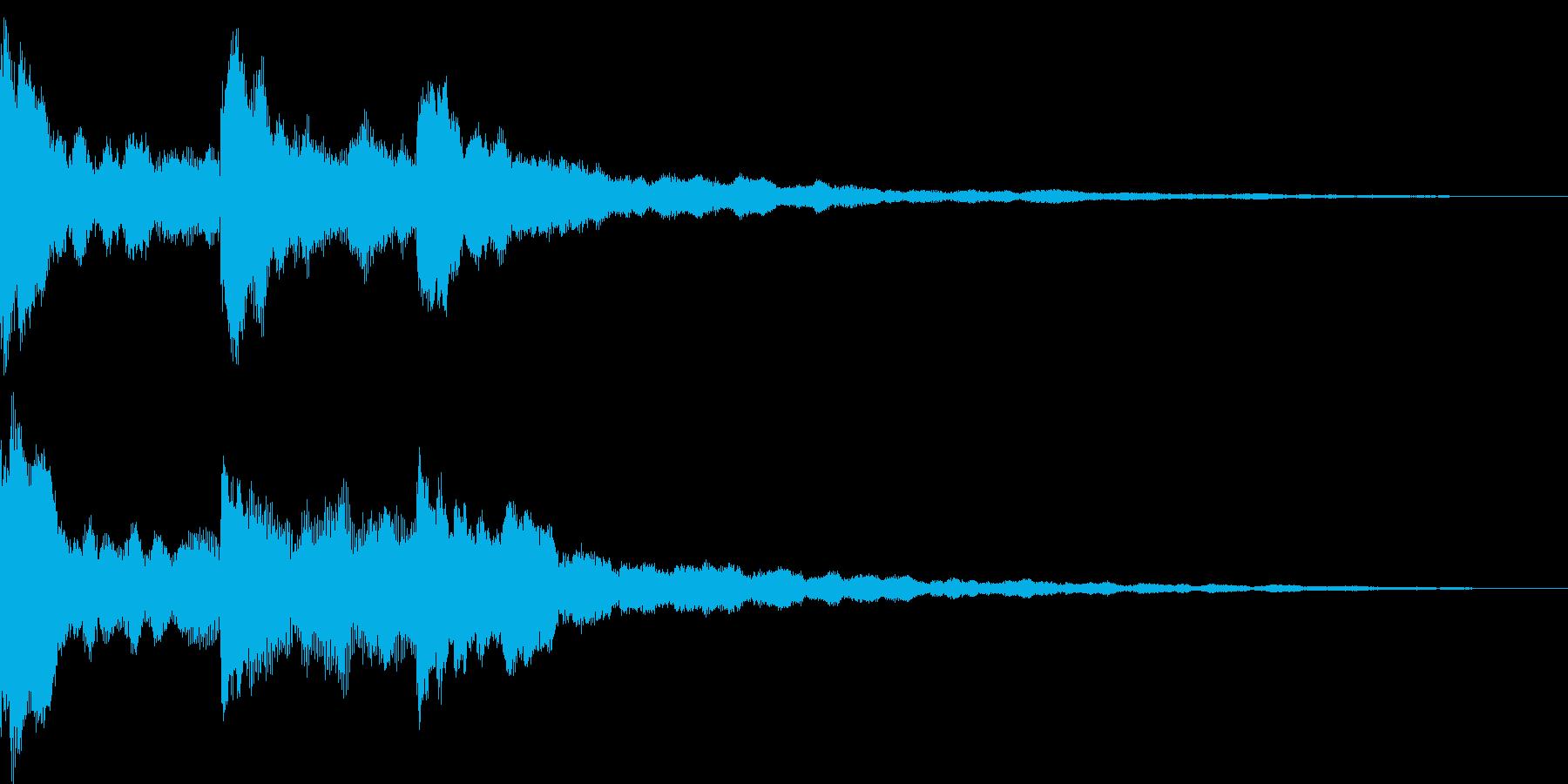 アンビエントなサウンドロゴの再生済みの波形