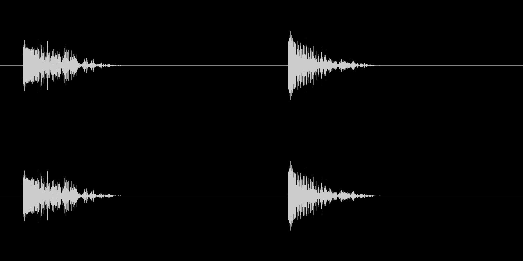 爆発4の未再生の波形