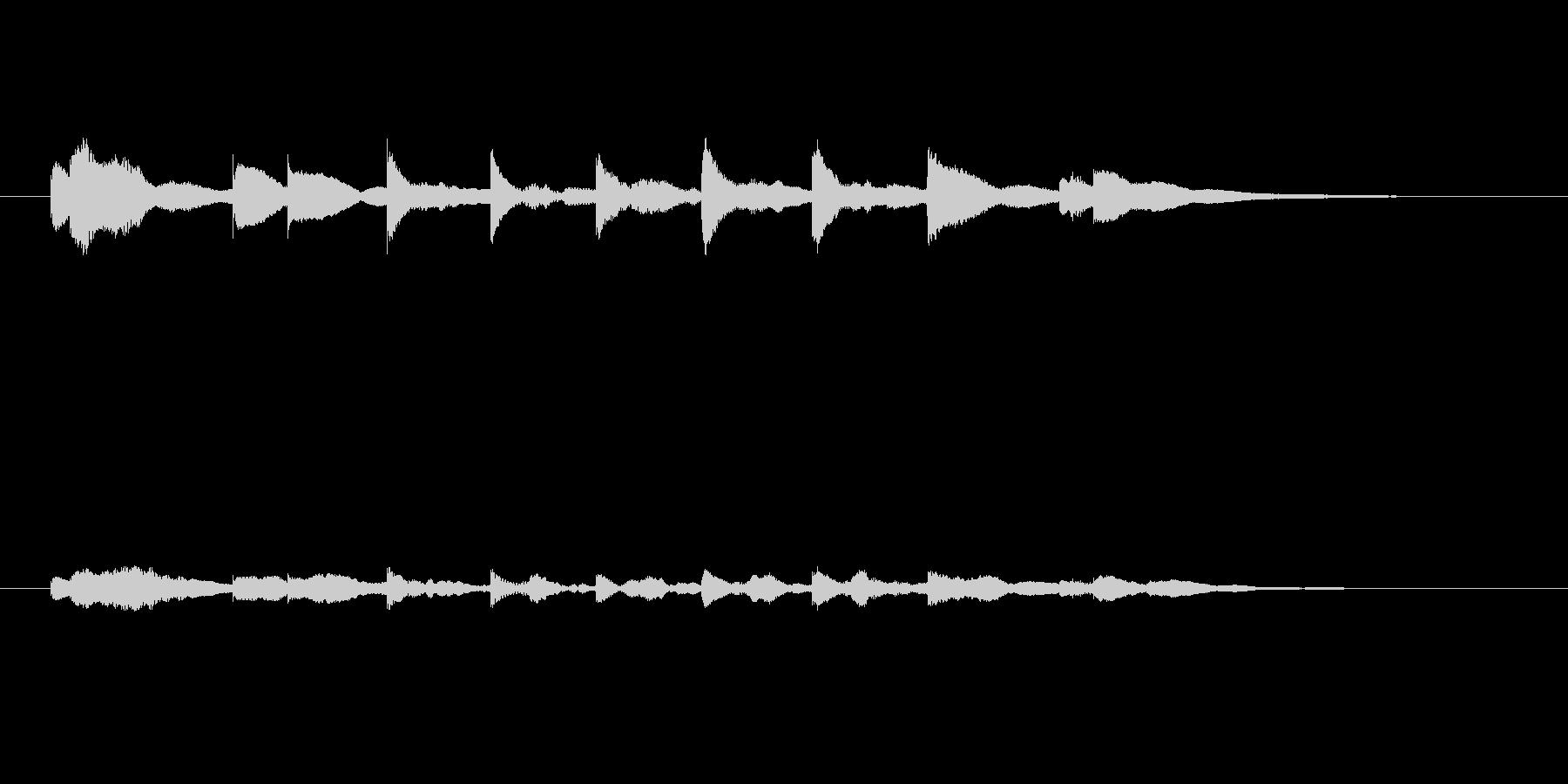 おしまいの合図~オルゴールの未再生の波形