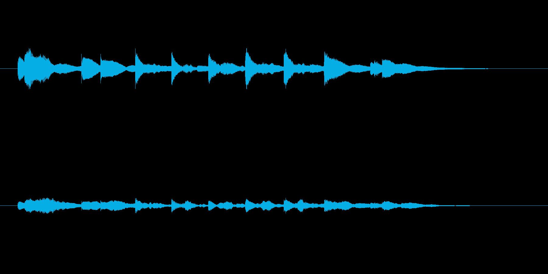 おしまいの合図~オルゴールの再生済みの波形