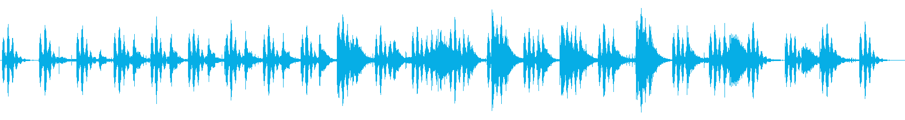王道の太鼓サスペンス曲の再生済みの波形