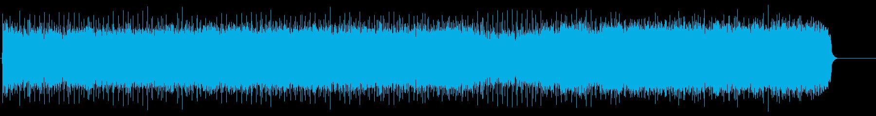 躍動感とスピード感の溢れる曲の再生済みの波形