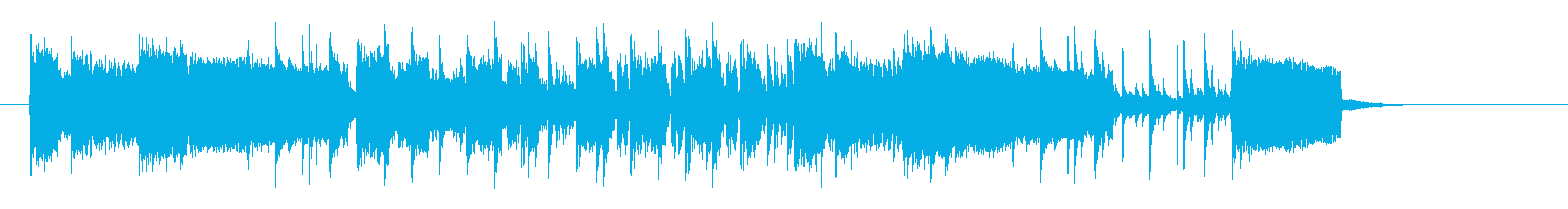 Running jingle, sound logo's reproduced waveform
