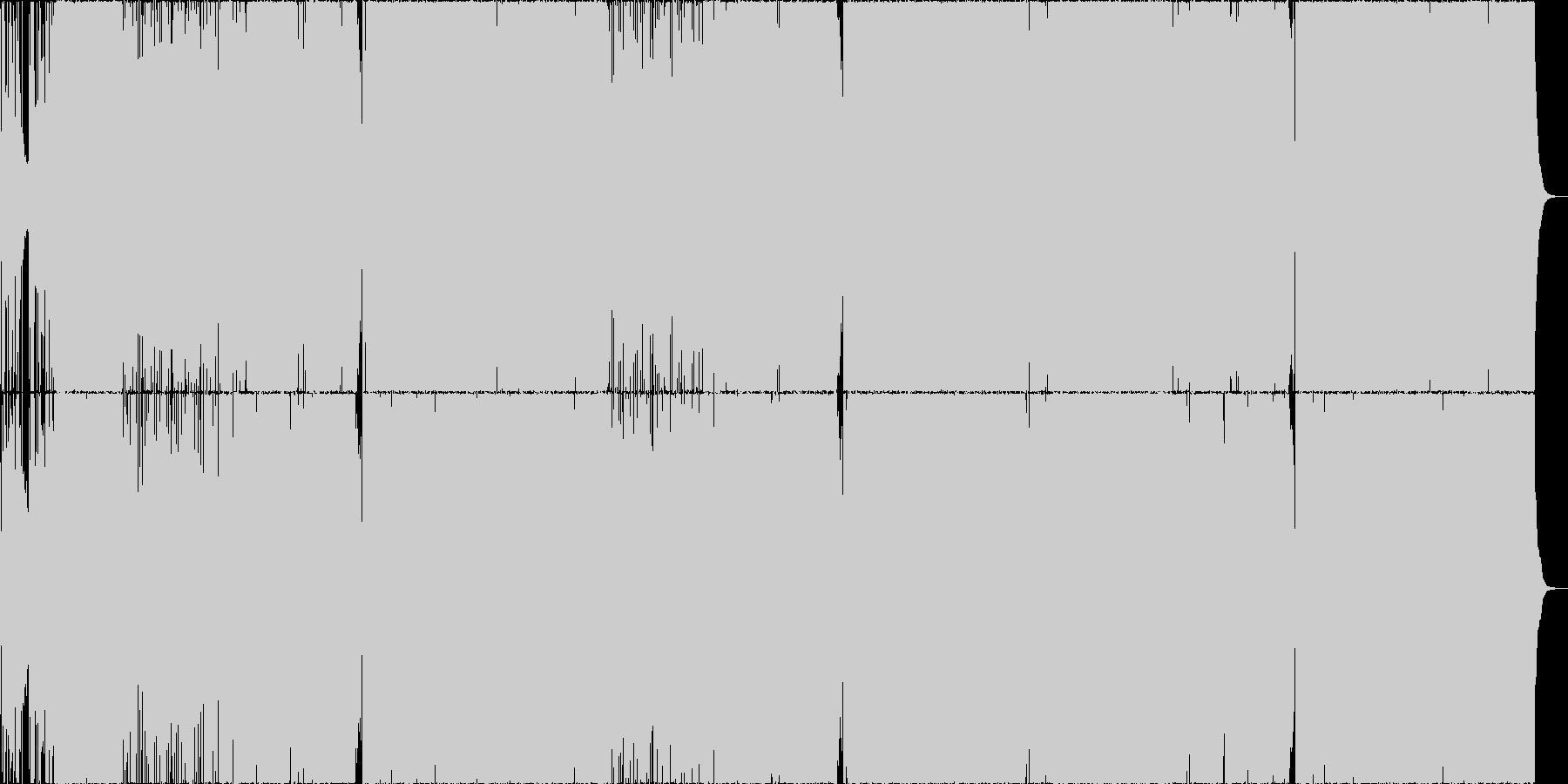 和風×ロックの楽曲の未再生の波形