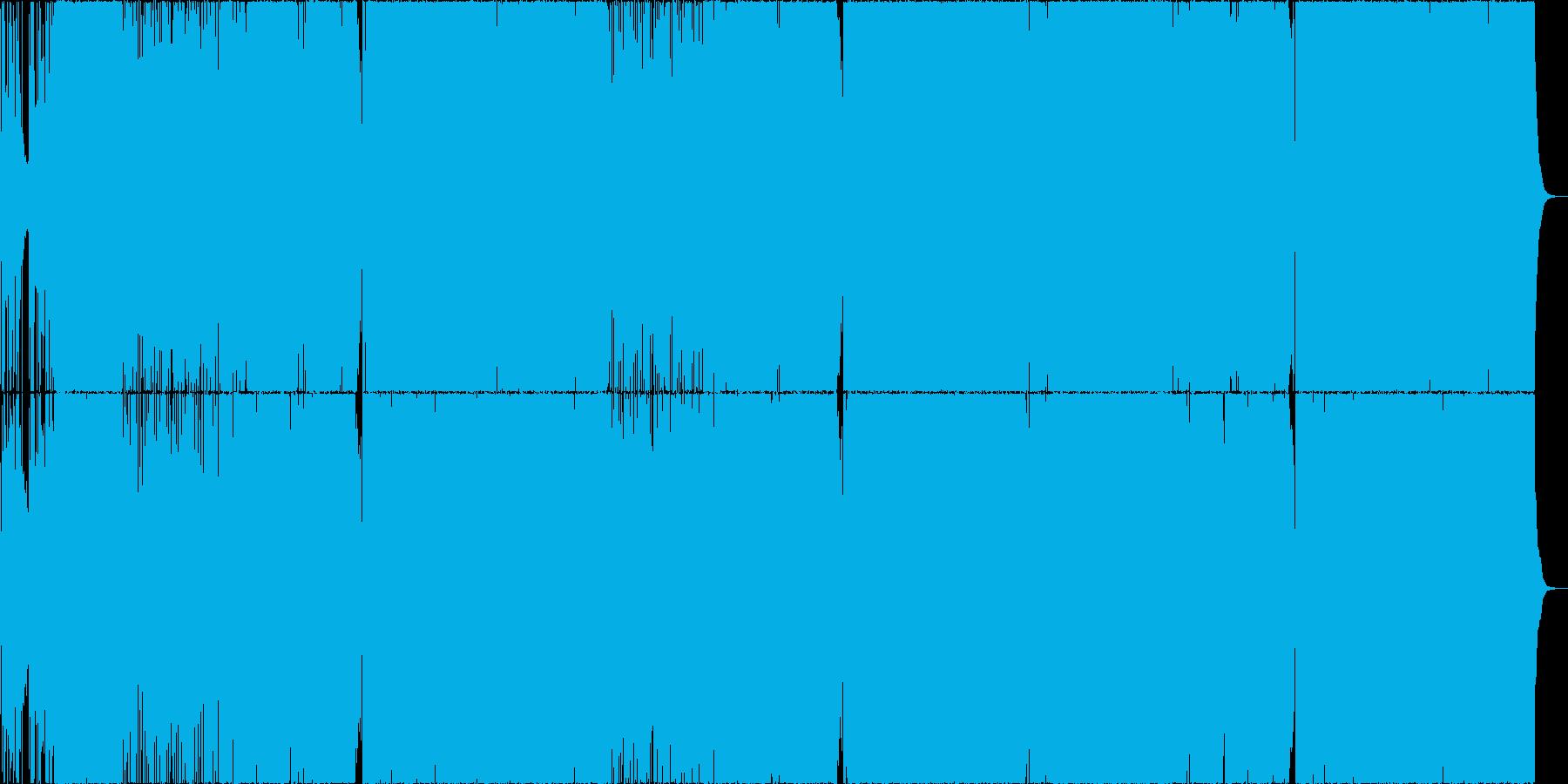 和風×ロックの楽曲の再生済みの波形