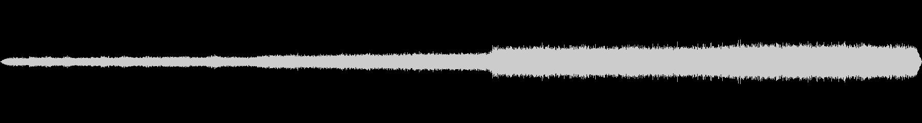 環境音 河床夜明けのチャープ増加01の未再生の波形