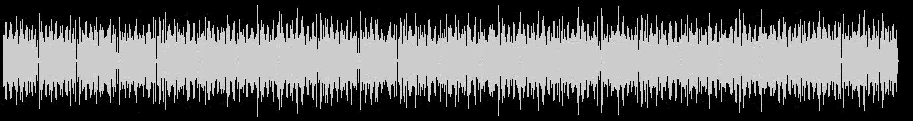 アップテンポなドラムが特徴のポップスの未再生の波形