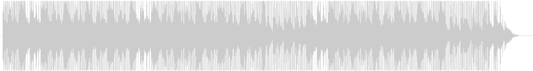 軽快なトラップサウンドの未再生の波形