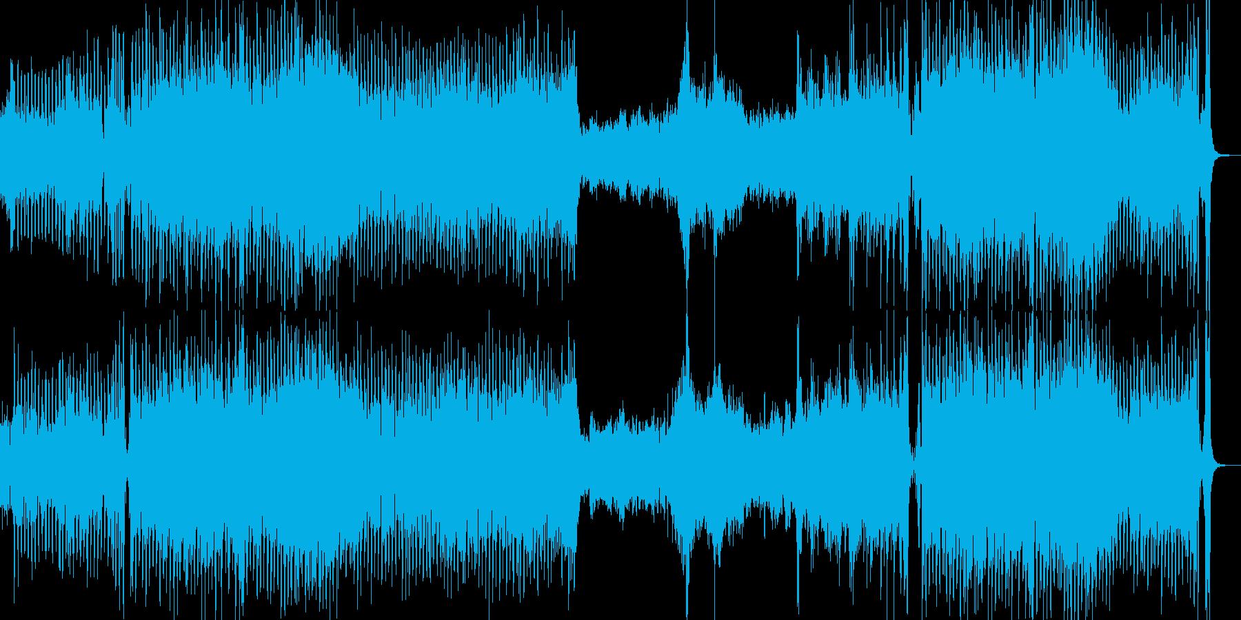アジア民族音楽的旋律の勇壮なインスト音楽の再生済みの波形