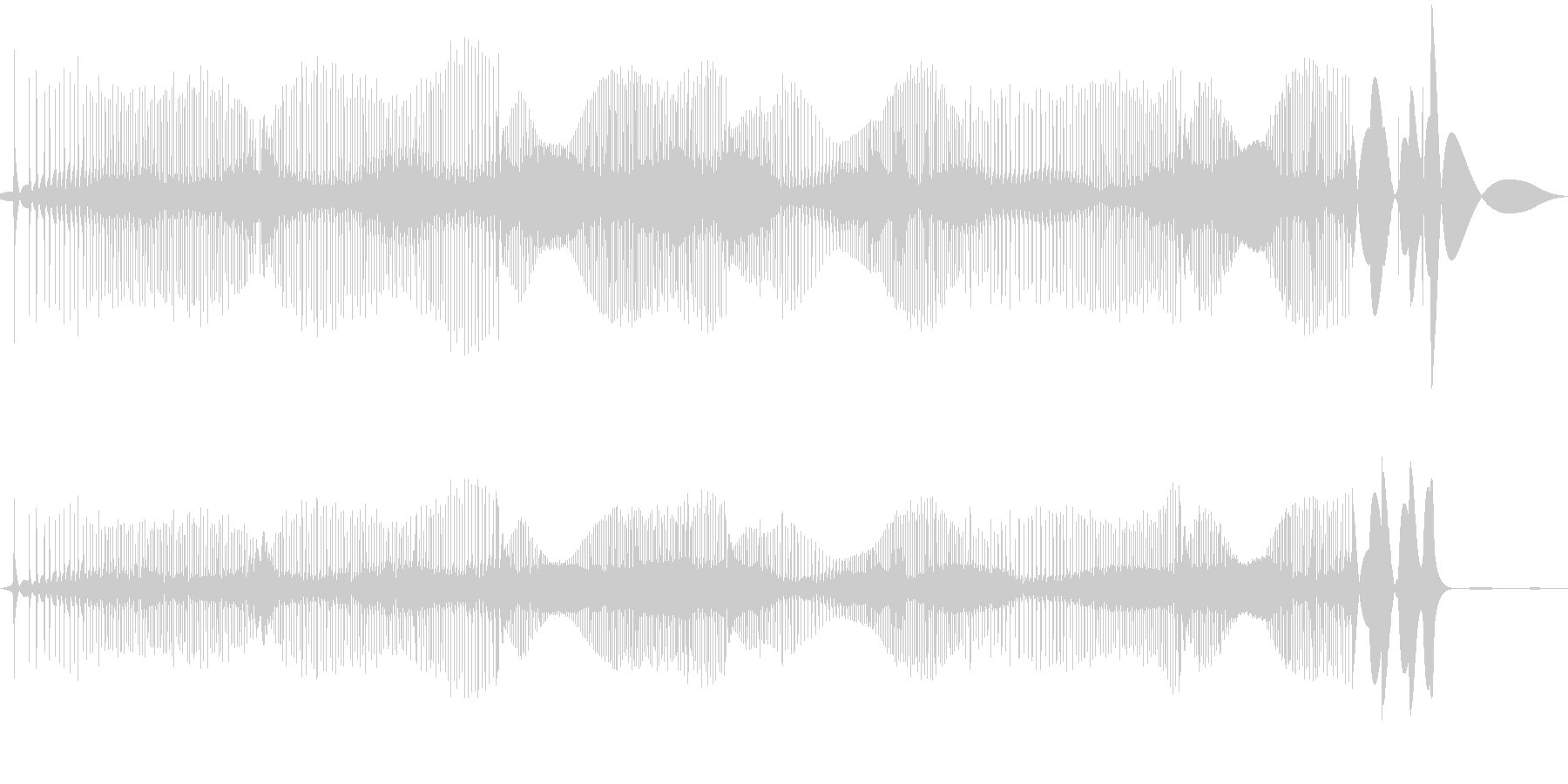 レコード針が横にすれた時の音(長め)の未再生の波形