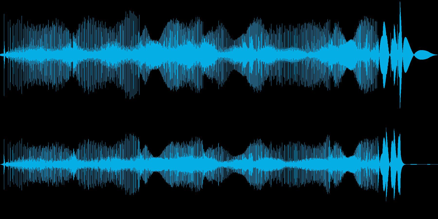 レコード針が横にすれた時の音(長め)の再生済みの波形
