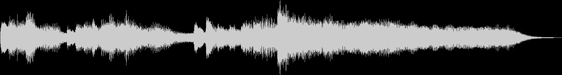 キラキラしたピアノのジングルの未再生の波形