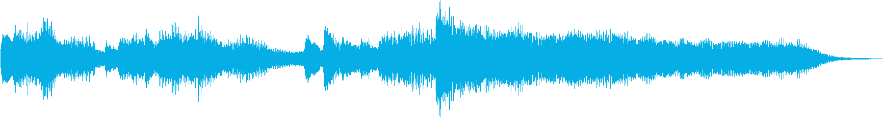キラキラしたピアノのジングルの再生済みの波形