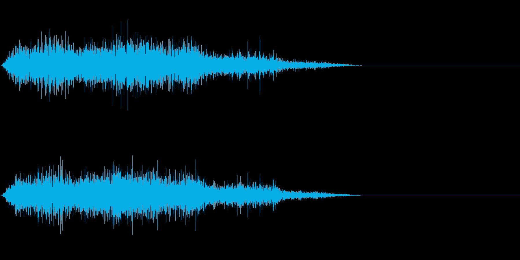 モンスター/獣/ゾンビ等の鳴き声!02の再生済みの波形