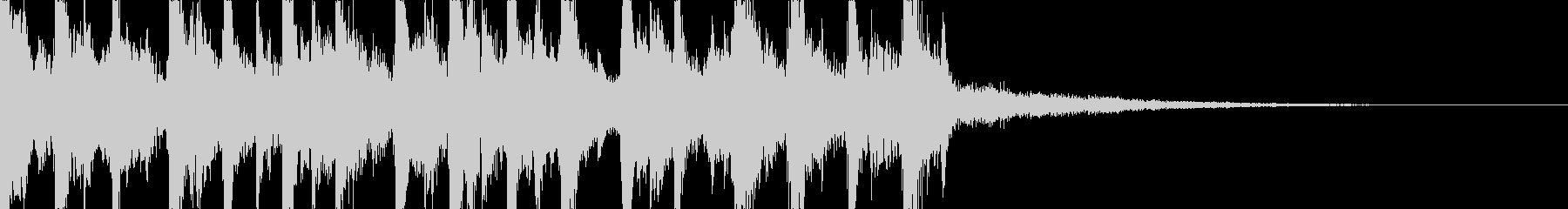 疾走感のある生三味線とドラムのジングルの未再生の波形