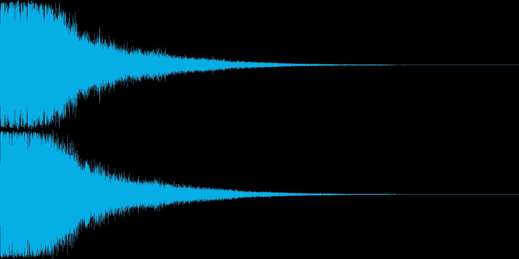 刀 剣 ソード カキーン キュイーン28の再生済みの波形