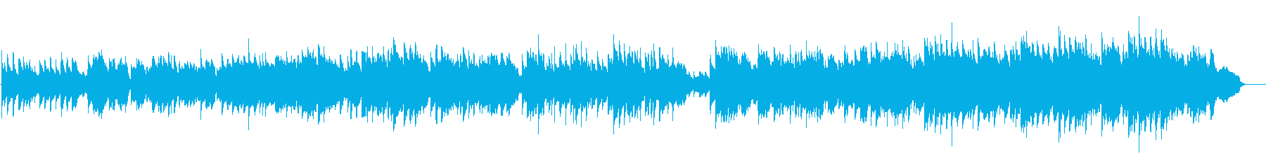 バイオリンとピアノのゆったりした音楽の再生済みの波形