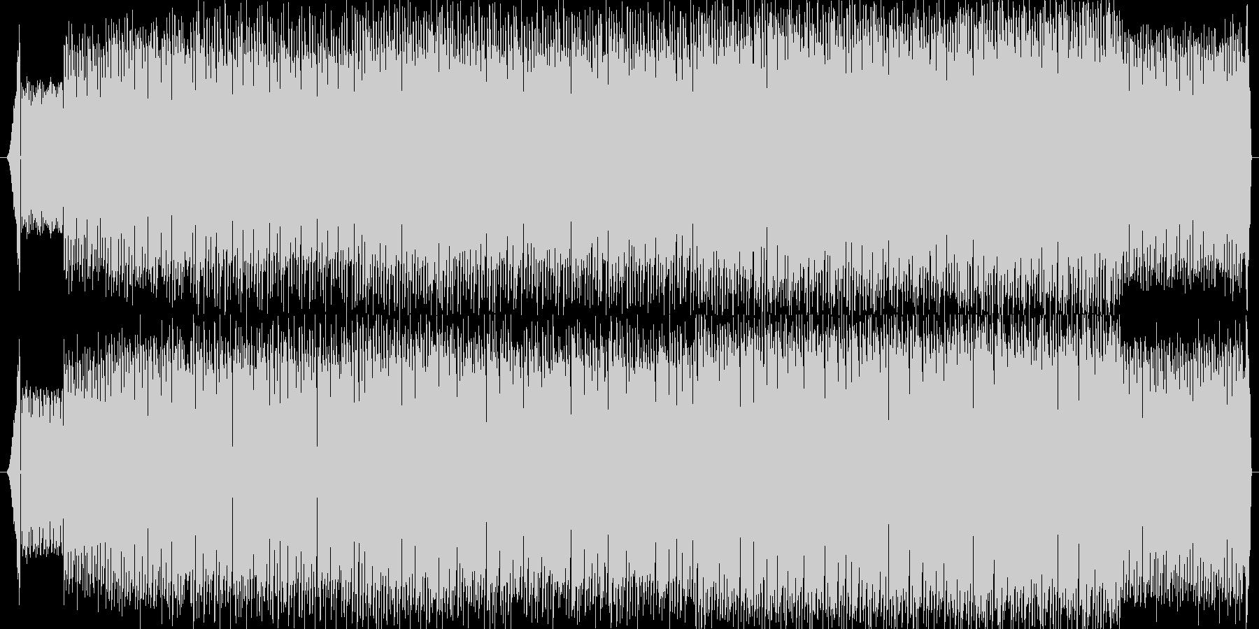 鬼気迫るアップテンポダンスミュージックの未再生の波形