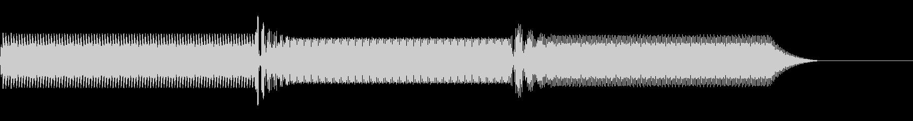 【ファミコン風】ピコッ!システム音の未再生の波形