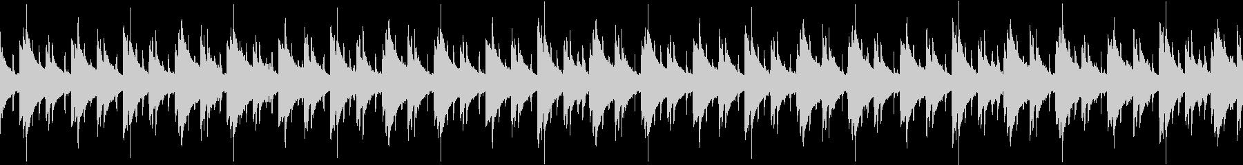 スローテンポなラップBGM ループの未再生の波形