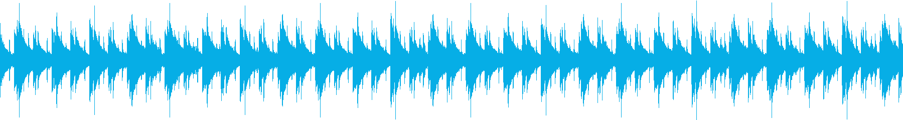 スローテンポなラップBGM ループの再生済みの波形