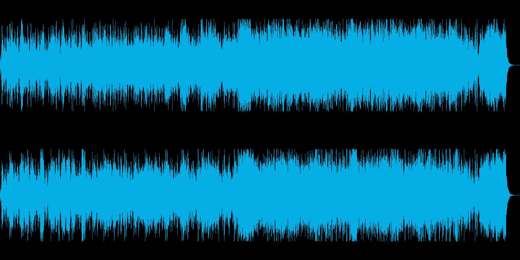 ゆったりファンタジーなシンセサウンドの再生済みの波形