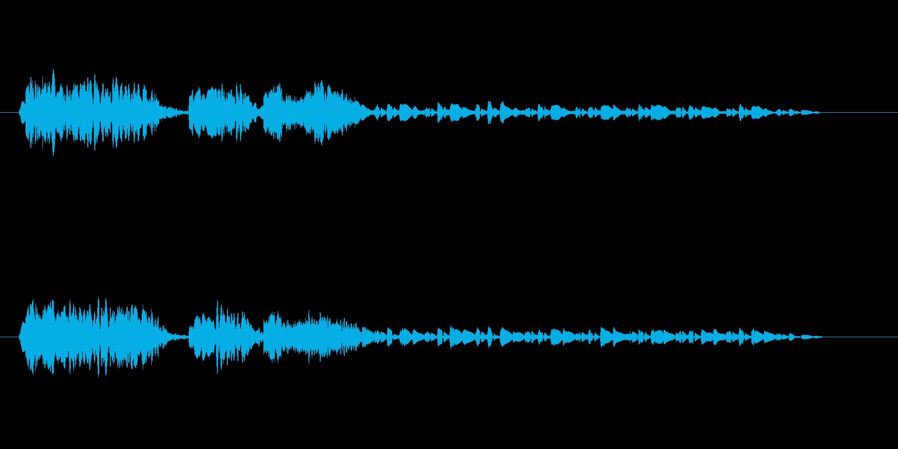 旅立ちを告げる笛の音の再生済みの波形