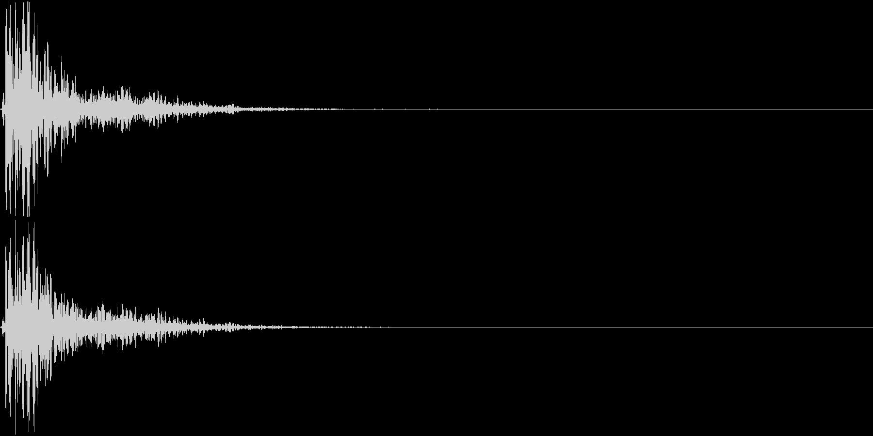 【生録音】蹴る音 キック 再現音 5の未再生の波形
