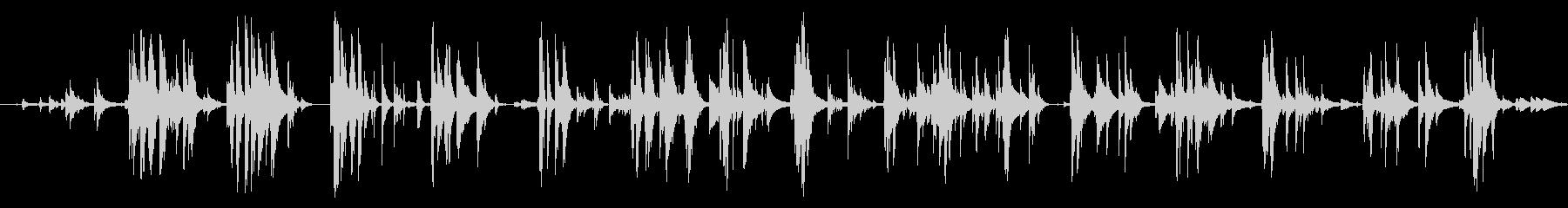 フォリーウォーク、カウベル、クロー...の未再生の波形