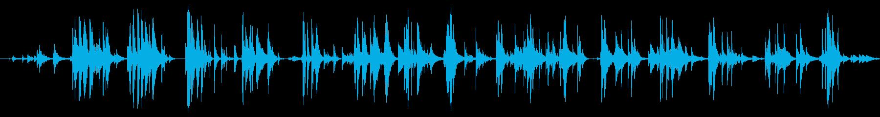 フォリーウォーク、カウベル、クロー...の再生済みの波形