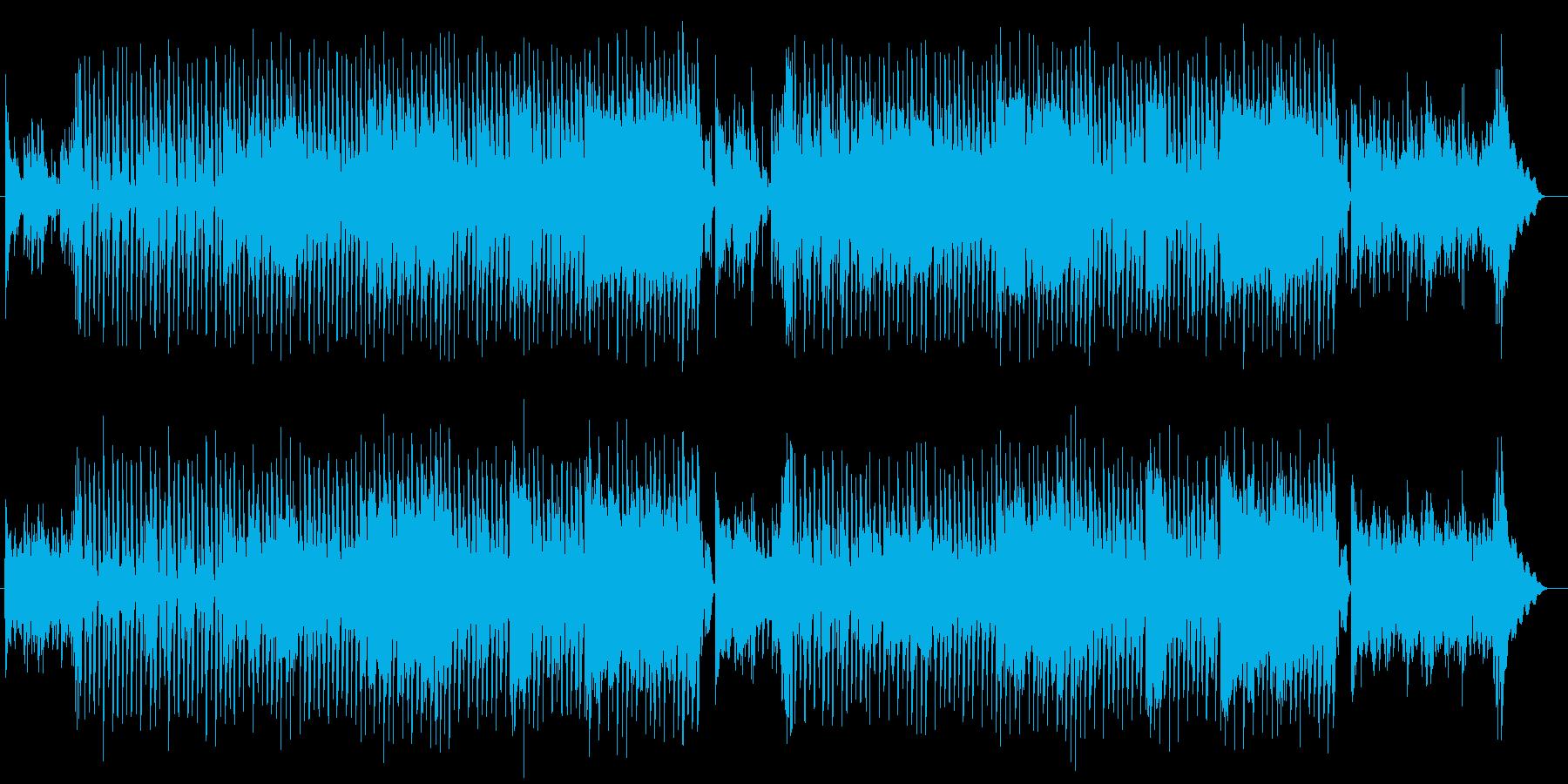 跳ねるような可愛いサウンドのポップの再生済みの波形