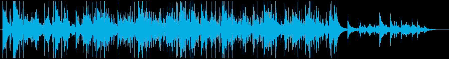 チルアウトなアコースティックインストの再生済みの波形
