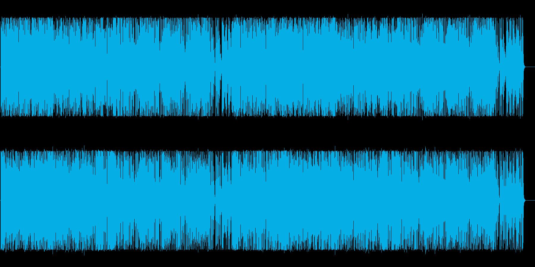 軽快で楽しくポップなBGMの再生済みの波形