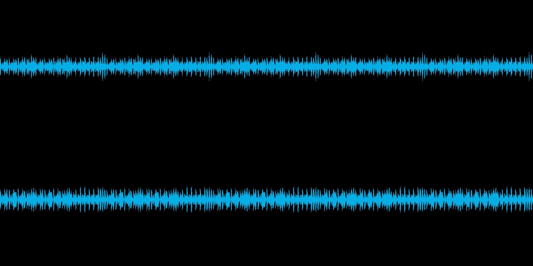 のんびりとしたBGMの再生済みの波形
