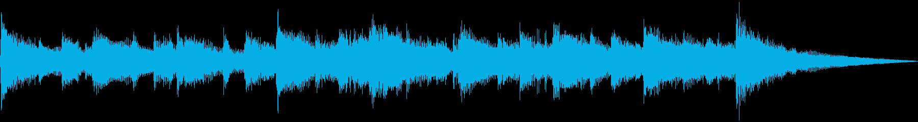 わくわくおしゃれ楽しいブルースbの再生済みの波形