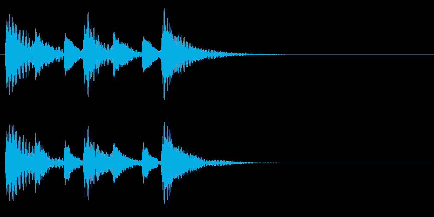 木琴 ミステリアス ほのぼの ジングル の再生済みの波形
