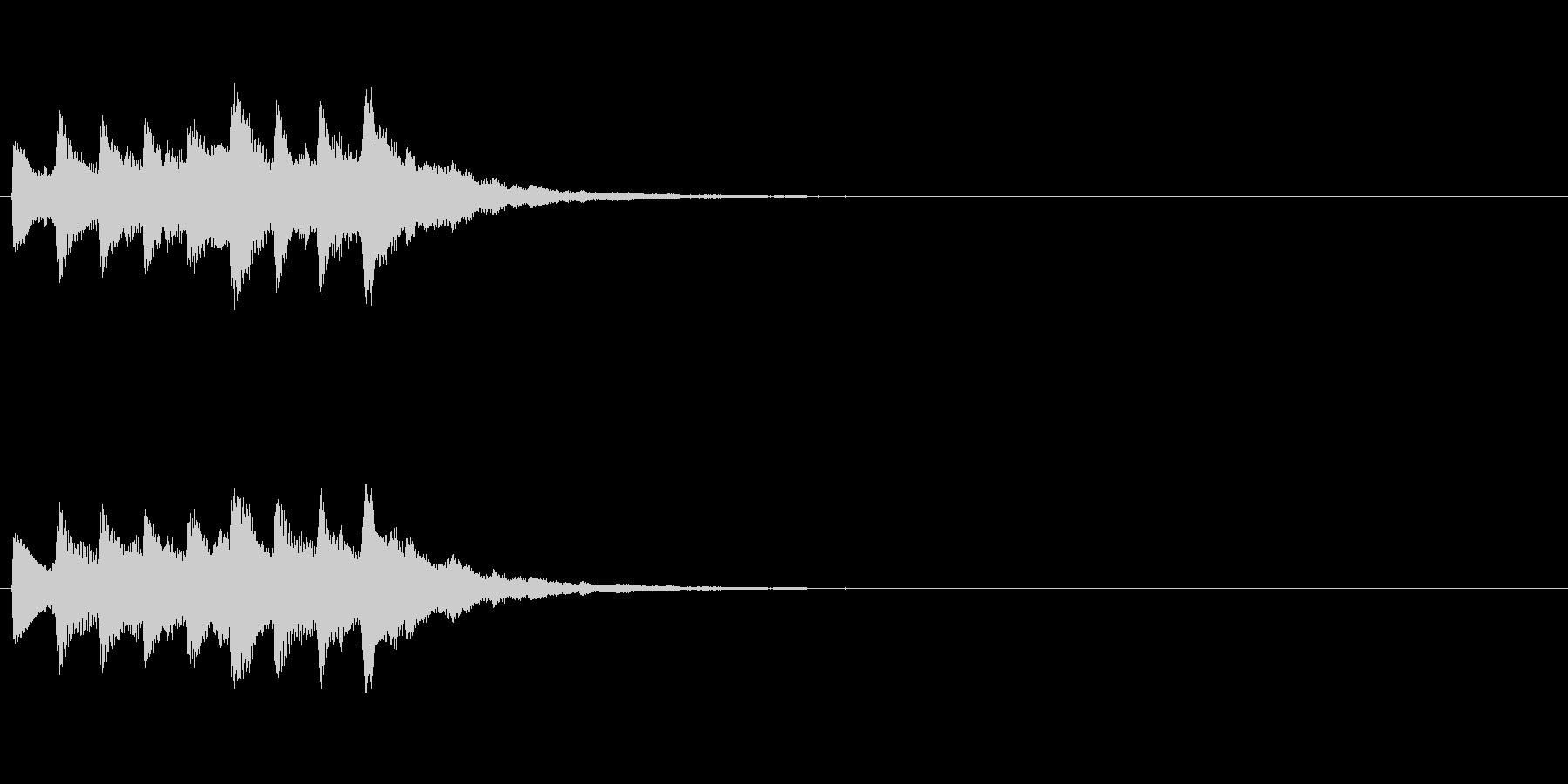 おしらせチャイム 余韻なし の未再生の波形