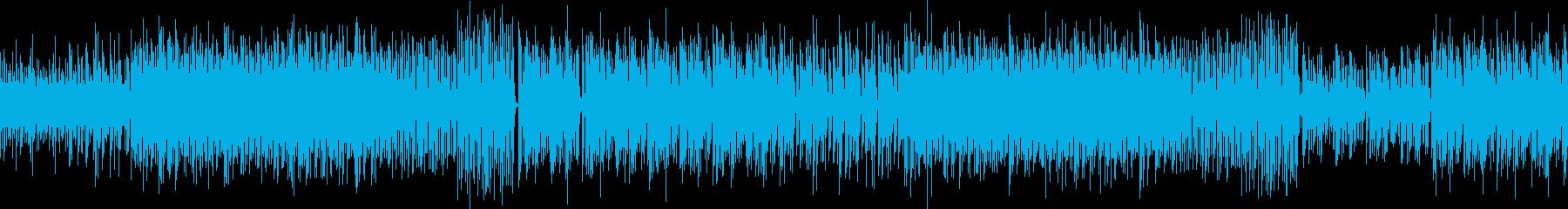 レトロゲームをイメージ 電子音 ループの再生済みの波形