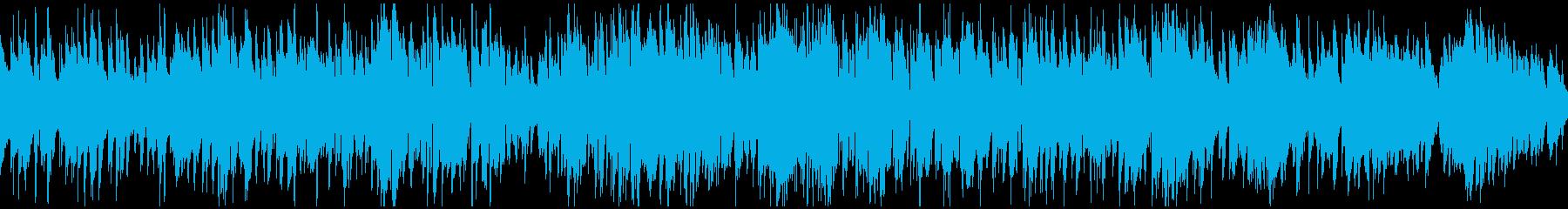 程よいテンポ感のまったりジャズ※ループ版の再生済みの波形