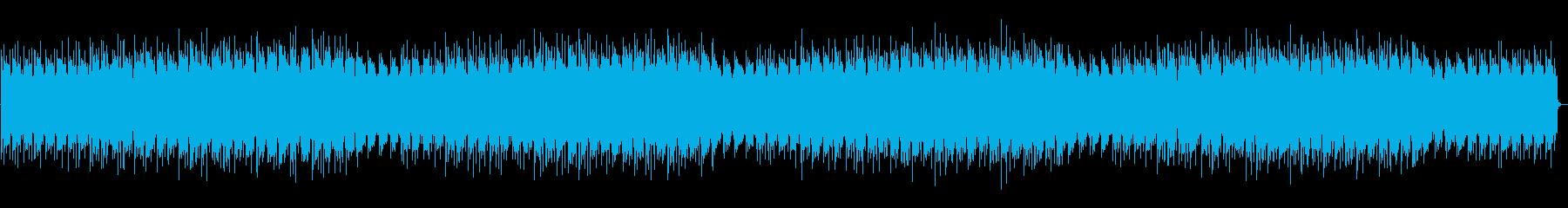 疾走するシリアスピアノとエレピの曲の再生済みの波形
