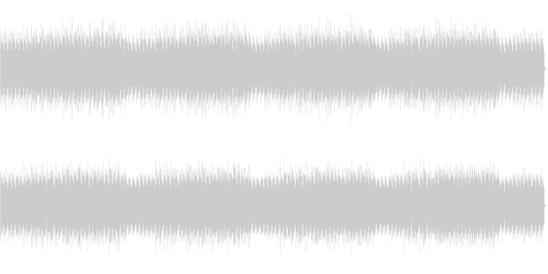 疾走するシリアスピアノとエレピの曲の未再生の波形