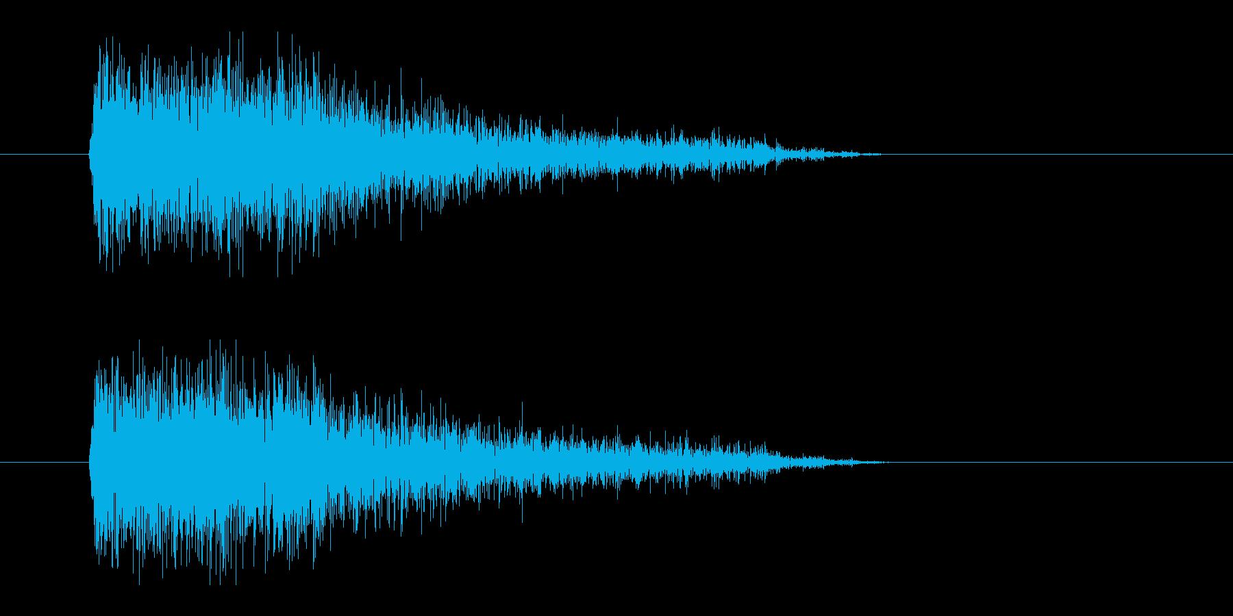 レーザー音-91-3の再生済みの波形
