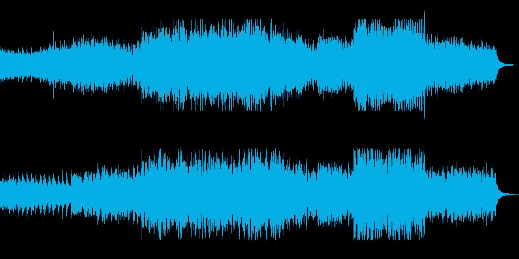 静かな中にも前向きさを感じられる曲の再生済みの波形